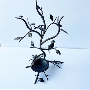 Rubbed Bronze Earring Tree with Birds 29 Pairs